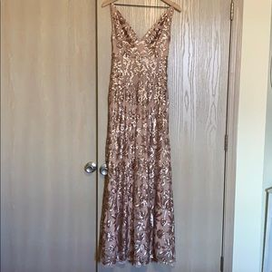Champagne/gold BCBG formal dress
